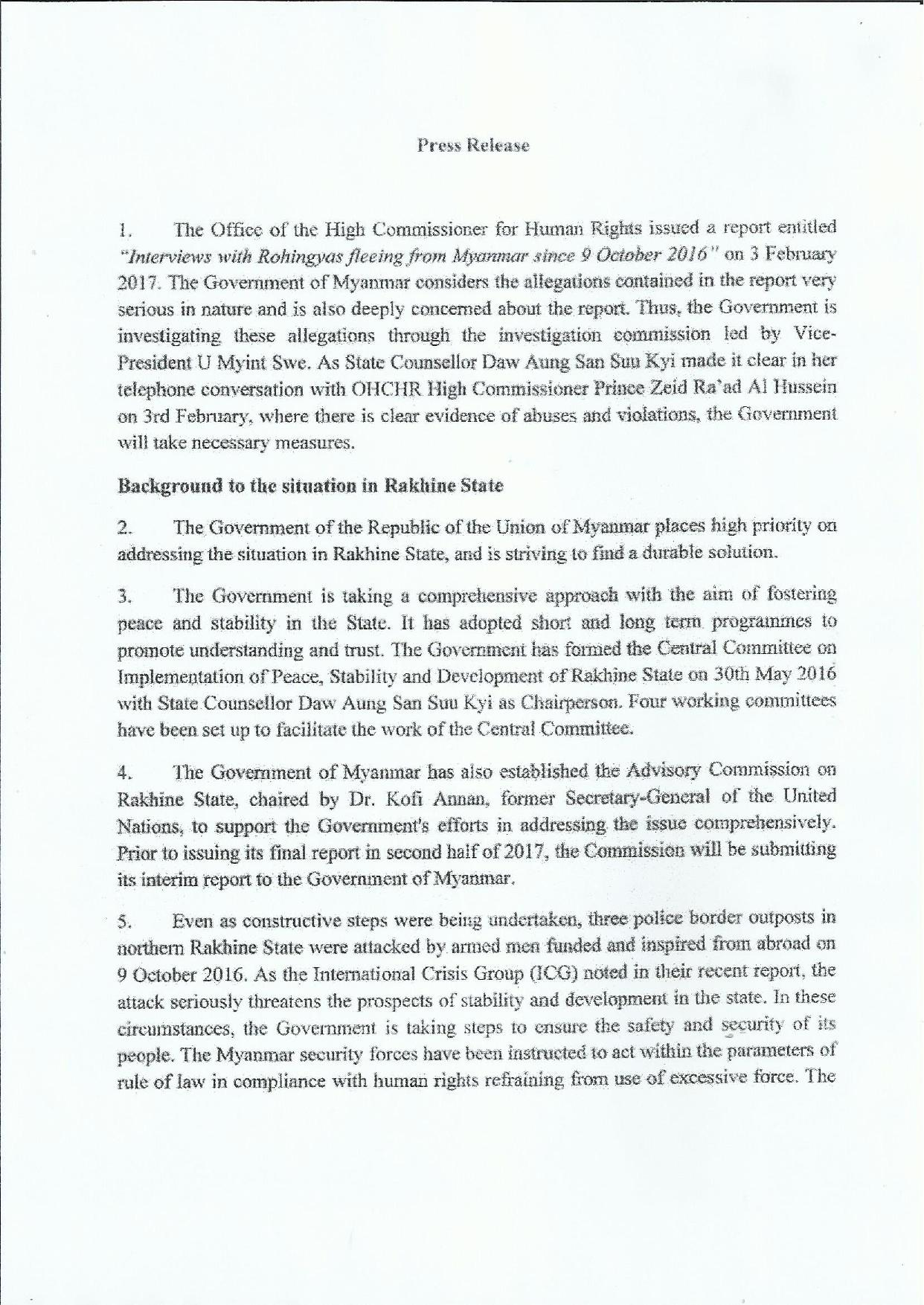 Press Release Rakhine State page 001